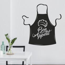 Stickers tablier de cuisine bon appétit