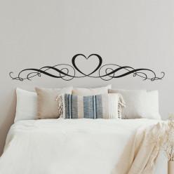Stickers tête de lit coeur