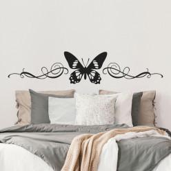 Stickers tête de lit papillon