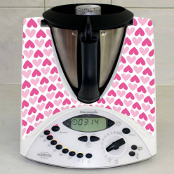 Stickers Thermomix TM 31 Coeurs en folies