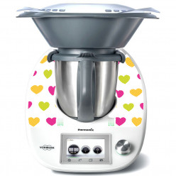 Stickers Thermomix TM 5 Coeurs multicolor