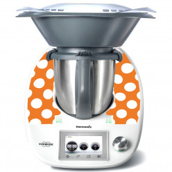 Stickers Thermomix TM 5 Orange à pois