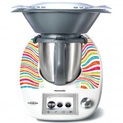 Stickers Thermomix TM 5 Rayé multicolor