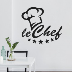 Stickers toque chef cuisine