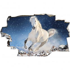Stickers Trompe l'oeil 3D - Cheval 2