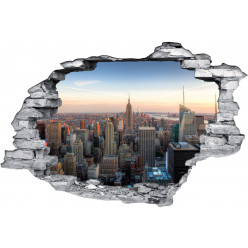 Stickers Trompe l'oeil 3D New York