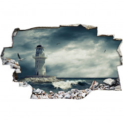 Stickers Trompe l'oeil 3D - Phare 3