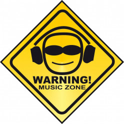 Stickers warning music