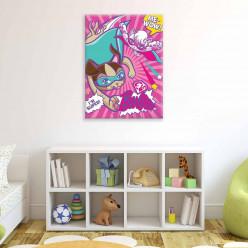 Tableau Barbie 100x75 cm