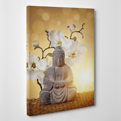 Tableau toile - Bambou Orchidée 3