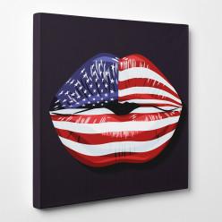 Tableau toile - Bouche USA
