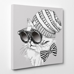 Tableau toile - Chat Cool 6