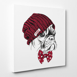 Tableau toile - Chien Cool 2