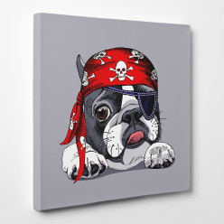 Tableau toile - Chien Pirate