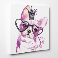 Tableau toile - Chien Princesse