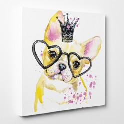Tableau toile - Chien Princesse 4