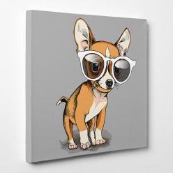 Tableau toile - Chihuahua Cool 2