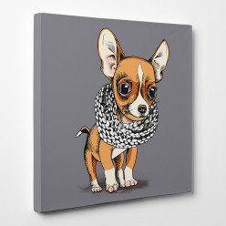 Tableau toile - Chihuahua Cool 4
