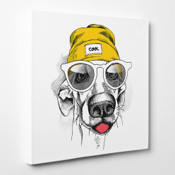 Tableau toile - Dog Cool
