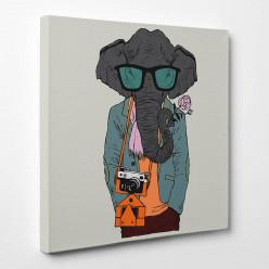 Tableau toile - Eléphant Cool 2