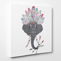 Tableau toile - Elephant Indien 2