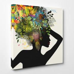 Tableau toile - Femme Africaine Abstrait