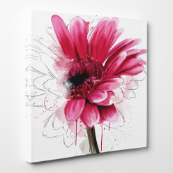 Tableau toile - Fleur Abstrait 2