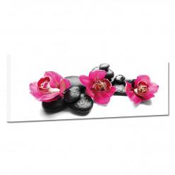 Tableau toile - Galets Orchidée 7