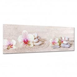 Tableau toile - Galets Orchidées 2