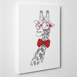 Tableau toile - Girafe Cool
