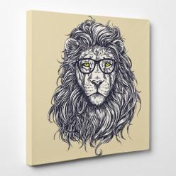 Tableau toile - Lion Abstrait 4