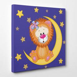 Tableau toile - Lion Lune