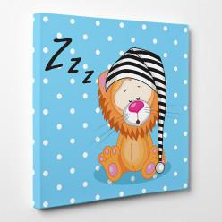 Tableau toile - Lion Zzzz