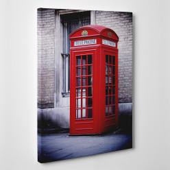 Tableau toile - London Cabine téléphonique