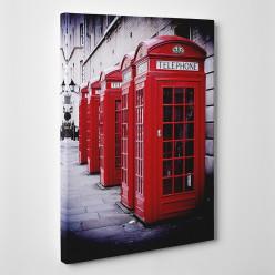 Tableau toile - London Cabine téléphonique 2