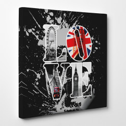 Tableau toile - London Love