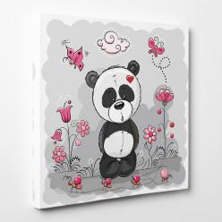 Tableau toile - Panda Fleur 4