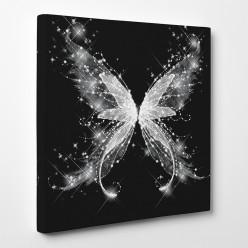Tableau toile - Papillon Abstrait