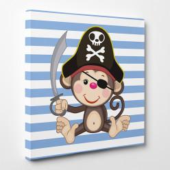 Tableau toile - Singe Pirate
