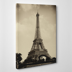 Tableau toile - Tour Eiffel Sépia