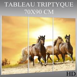 Triptyque Forex Chevaux