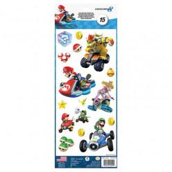 15 Stickers Nintendo Mario Kart 8