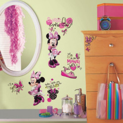 19 Stickers Fashionista Minnie Mouse Disney