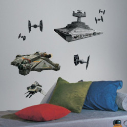 9 Stickers Vaisseaux Empire et Rebel Star Wars