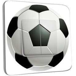 Interrupteur Décoré Double Va et Vient - Ballon de foot Black&White 2