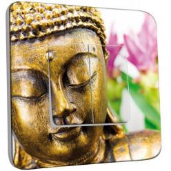 Interrupteur Décoré Double Va et Vient - Bouddha