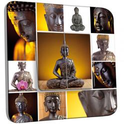 Interrupteur Décoré Double Va et Vient - Bouddhas