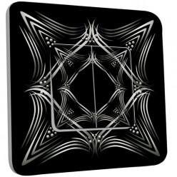Interrupteur Décoré Double Va et Vient - Motif Oriental Black&White 4
