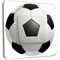 Interrupteur Décoré Poussoir - Ballon de foot Black&White 2