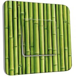 Interrupteur Décoré Poussoir - Bambou Zoom